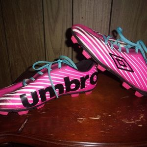 Girls Umbro Arturo Hot Pink Soccer Cleats size 3Y